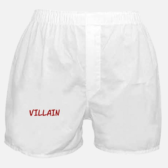 Red VILLAIN Boxer Shorts