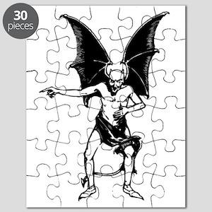 Vintage Pointing Devil Puzzle