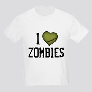 I Heart Zombies Kids Light T-Shirt