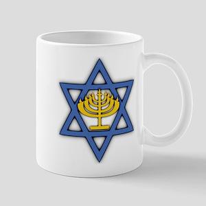 Star of David with Menorah Mug