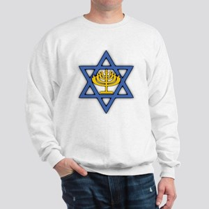 Star of David with Menorah Sweatshirt