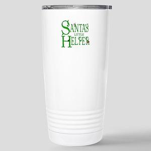 Santa's Little Helper Stainless Steel Travel Mug