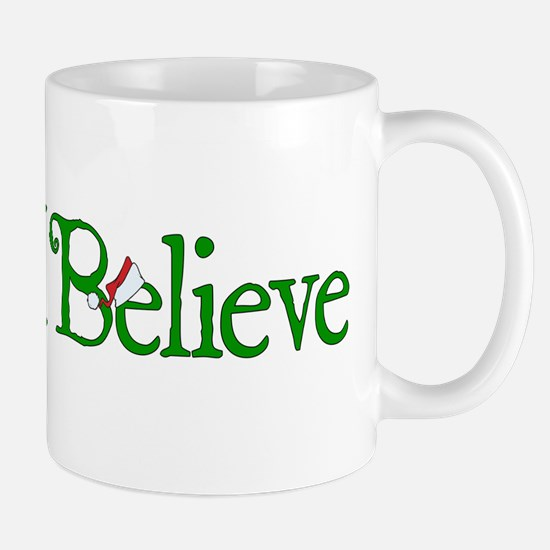 I Believe with Santa Hat Mug