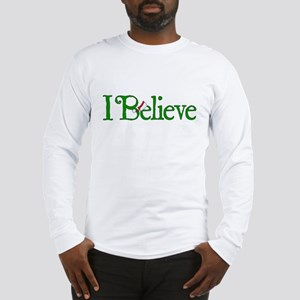 I Believe with Santa Hat Long Sleeve T-Shirt