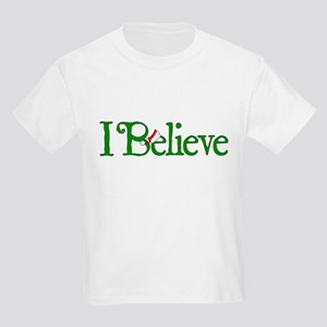 I Believe with Santa Hat Kids Light T-Shirt