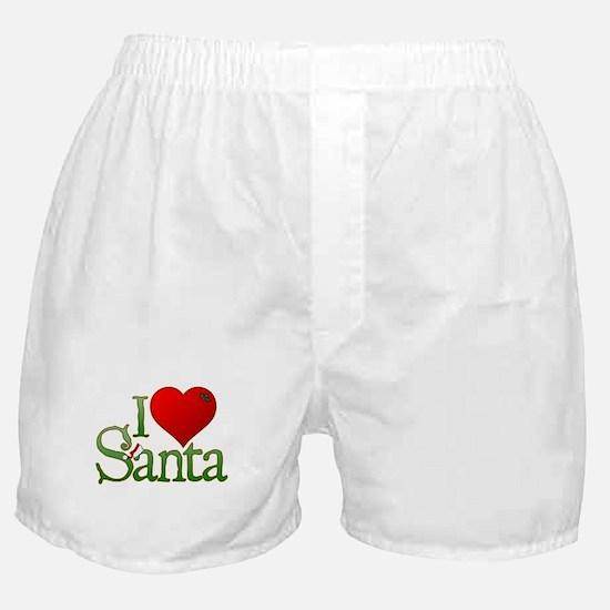 I Heart Santa Boxer Shorts