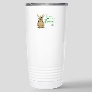 Red-Nosed Bull Dog Stainless Steel Travel Mug
