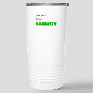 Santa, Define Naughty Stainless Steel Travel Mug