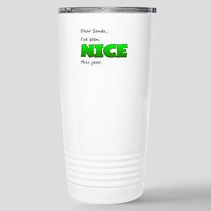 Santa, I've Been Nice Stainless Steel Travel Mug