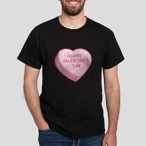 HAPPY VALENTINE'S DAY Candy Heart Dark T-Shirt