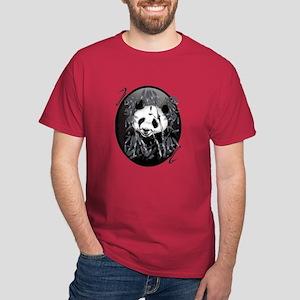 Grey Tone Panda Dark T-Shirt