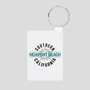 Newport Beach California Aluminum Photo Keychain