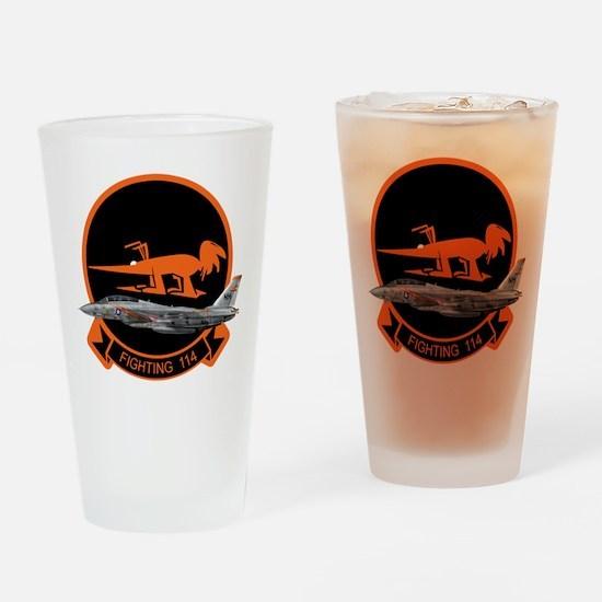 F-14 Tomcat VF-114 Aardvarks Drinking Glass