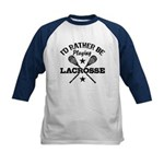 I'd Rather Be Playing Lacrosse Kids Baseball Jerse