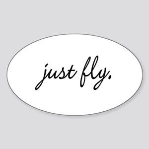 Just Fly Oval Sticker