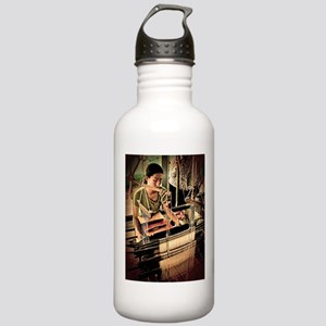 Cambodian Silk Weaver Stainless Water Bottle 1.0L