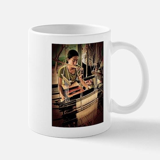 Cambodian Silk Weaver Mug