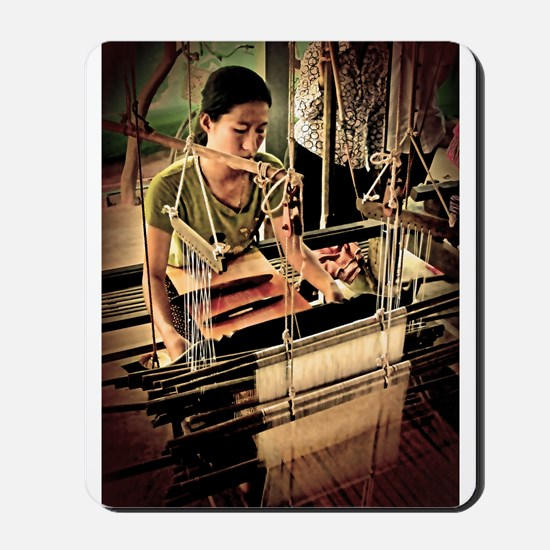 Cambodian Silk Weaver Mousepad