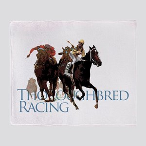 Thoroughbred Racing Throw Blanket