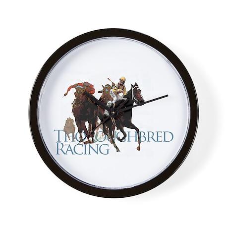 Thoroughbred Racing Wall Clock