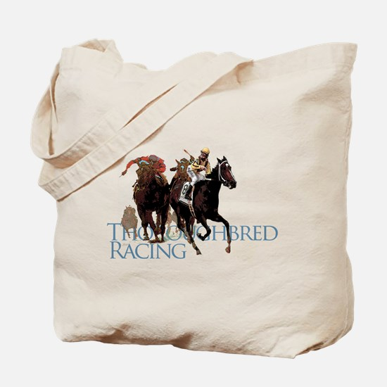 Thoroughbred Racing Tote Bag