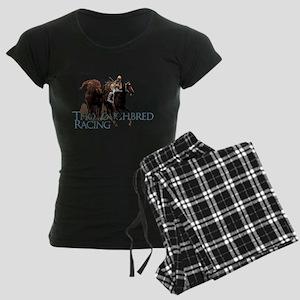 Thoroughbred Racing Women's Dark Pajamas