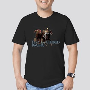 Thoroughbred Racing Men's Fitted T-Shirt (dark)