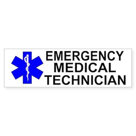 Emergency Medical Technician Sticker (Bumper)