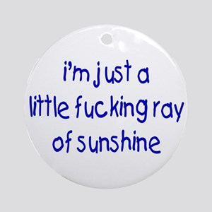 Little Ray Of Sunshine Ornament (Round)