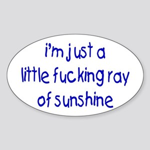 Little Ray Of Sunshine Oval Sticker