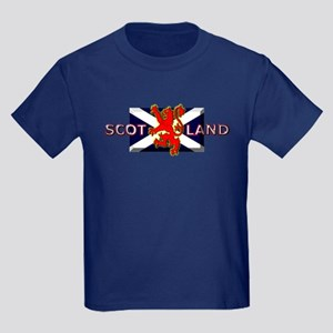 Scotland Football Fashion Kids Dark T-Shirt