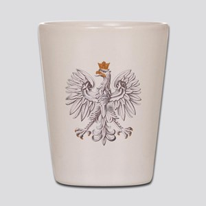 Polish White Eagle Shot Glass