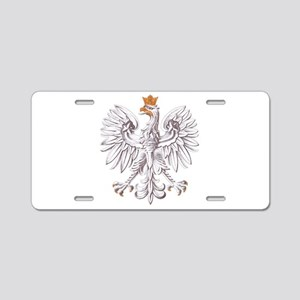 Polish White Eagle Aluminum License Plate