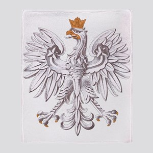 Polish White Eagle Throw Blanket