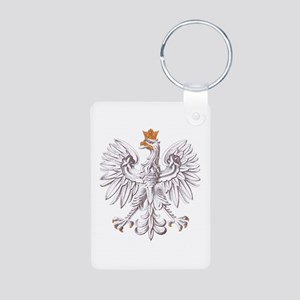 Polish White Eagle Aluminum Photo Keychain