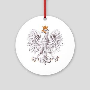 Polish White Eagle Ornament (Round)