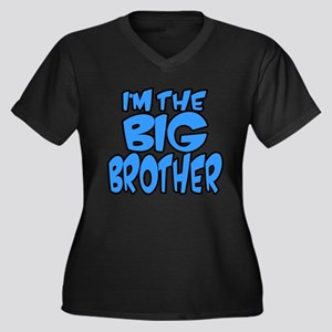 I'm the big brother blue Women's Plus Size V-Neck