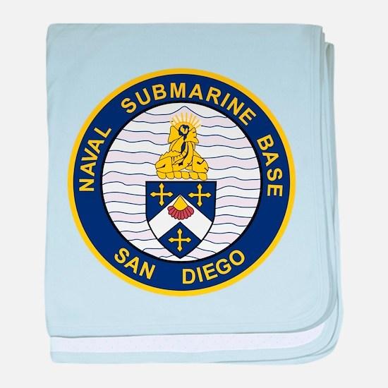 Go Navy baby blanket