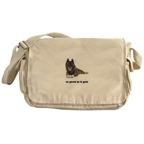 Brindle Akita Photo Messenger Bag