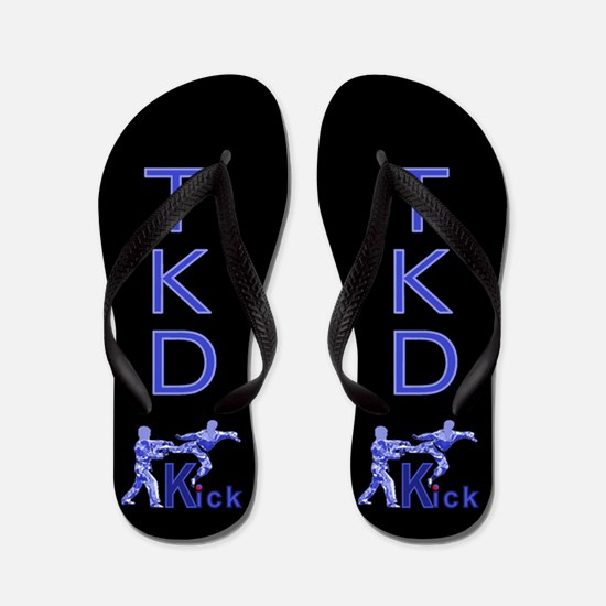 Cute Blue kick Flip Flops