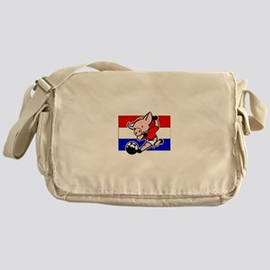 Croatia Soccer Pigs Messenger Bag