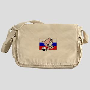 Russia Soccer Pigs Messenger Bag