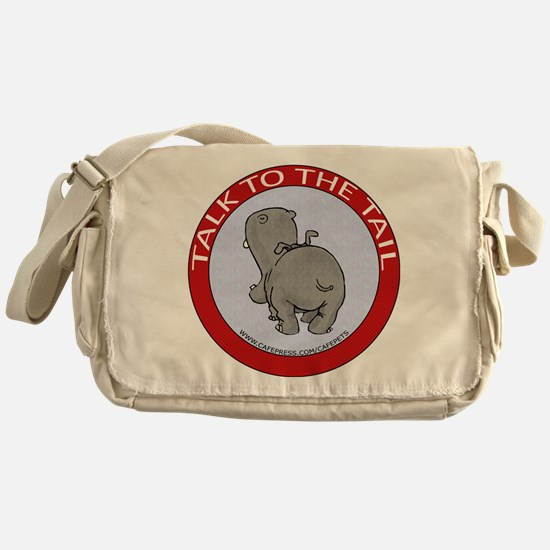 Hippo Talk To The Tail Messenger Bag