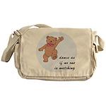 Dancing Bear Messenger Bag
