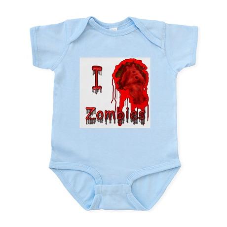 I Heart Zombies Infant Creeper