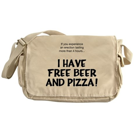 Free Beer And Pizza Messenger Bag
