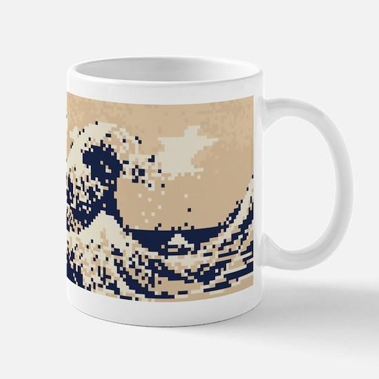 Pixel Tsunami Great Wave 8 Bit Art Mug