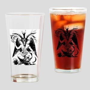 Vintage Black Baphomet Drinking Glass