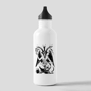 Vintage Black Baphomet Water Bottle