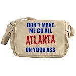 Atlanta Baseball Messenger Bag